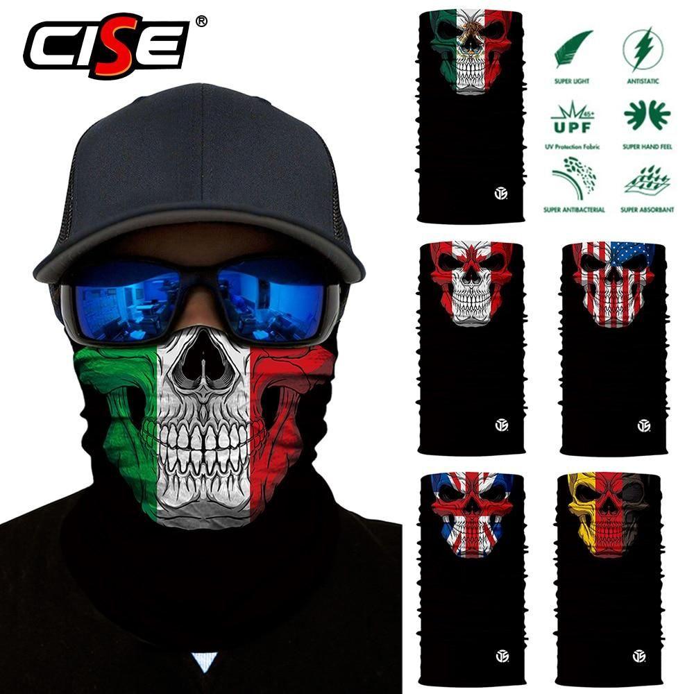 Motorcycle Balaclava Magic Neck Face Mask National Flag