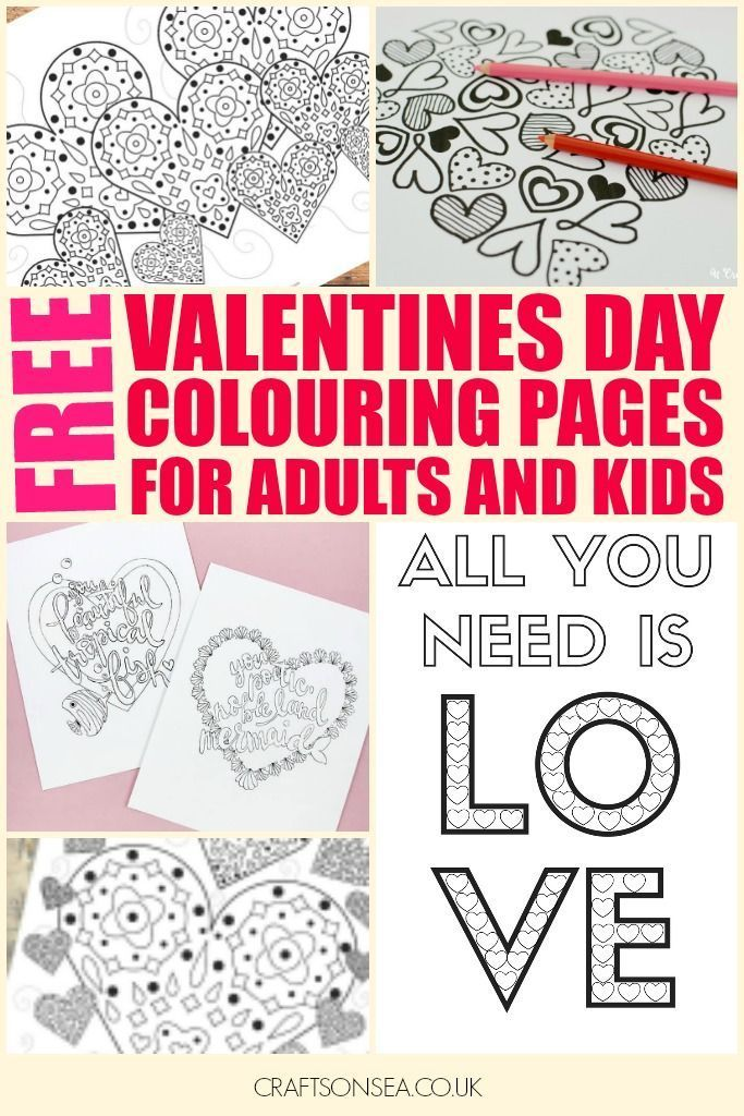 Free Printable Valentines Day Colouring Pages For Adults