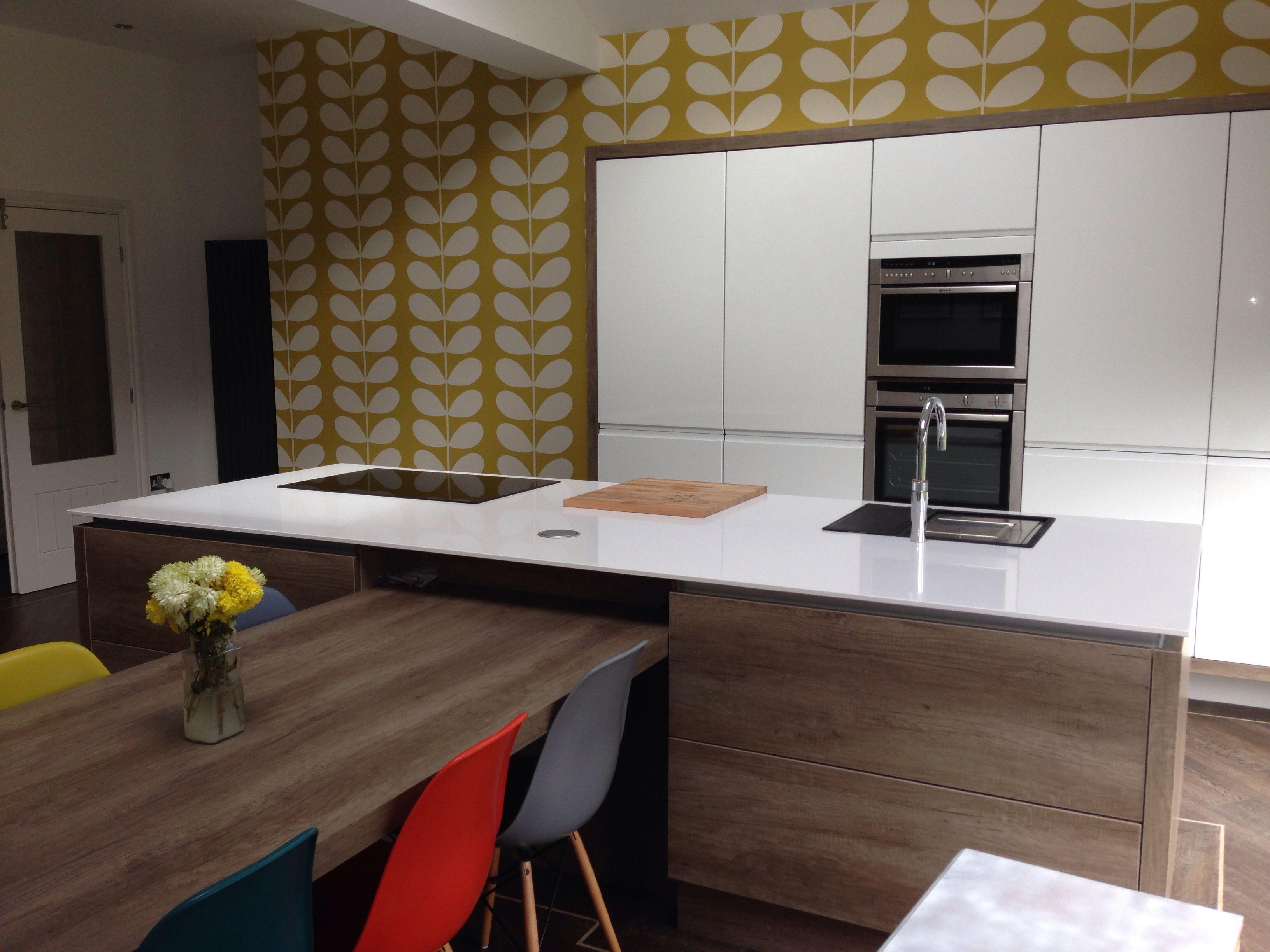 Love my new orla kiely giant stem wallpaper 💙 Home decor