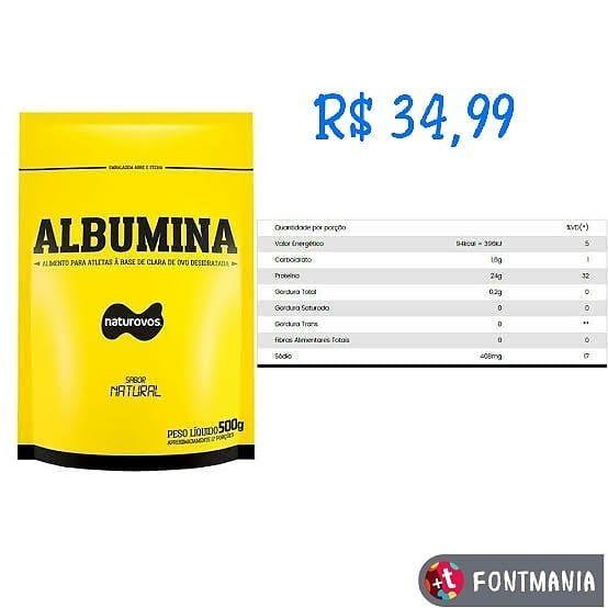 Albumina 500g Naturovos  Apenas R$ 34,99  #vilavelhaes #vidasaudavel #vitoriaespiritosanto #musculaç...