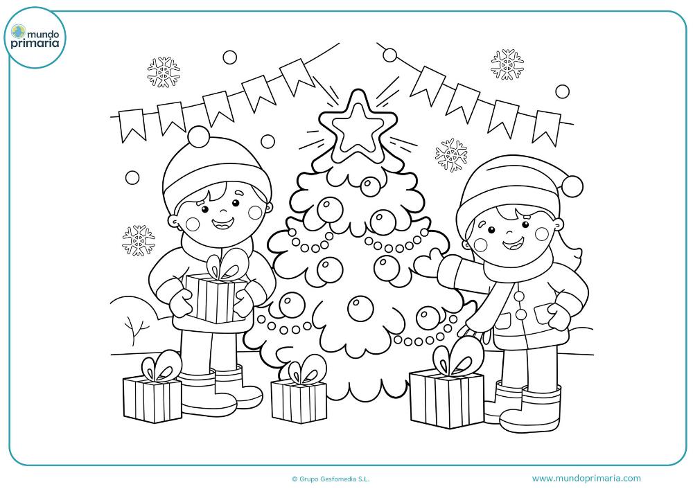 13 Dibujos de navidad para colorear grandes
