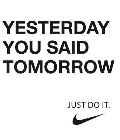 Yesterday You Said Tomorrow nike logo