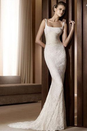 wedding dresses with lace and low back