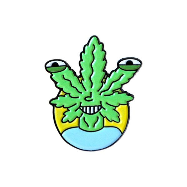 Weed Head Lapel Pin
