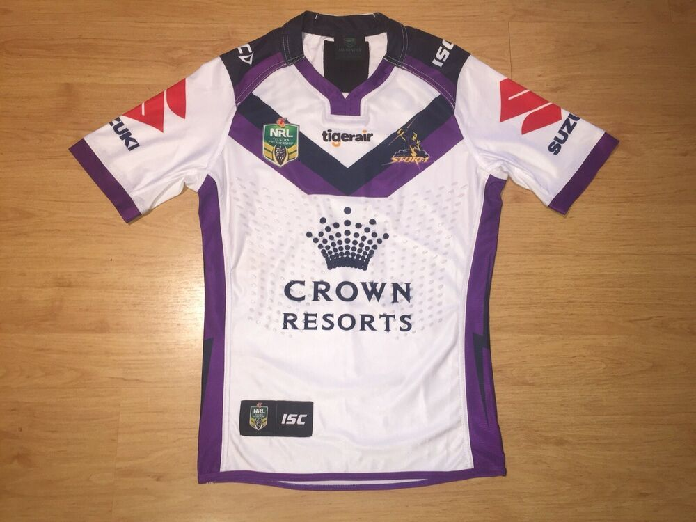 Melbourne Storm 2017 Away Slater 1 Match Worn Issued Nrl Shirt Jersey Small Fashion Sporting Goods Nrlrugbyleague Clothing Ebay Lin Shirts Nrl Mens Tops