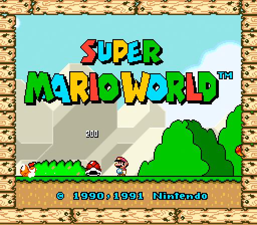 60 Inspirational Title Graphics Of 16 8 Bit Games Super Mario World Super Mario Super Nintendo