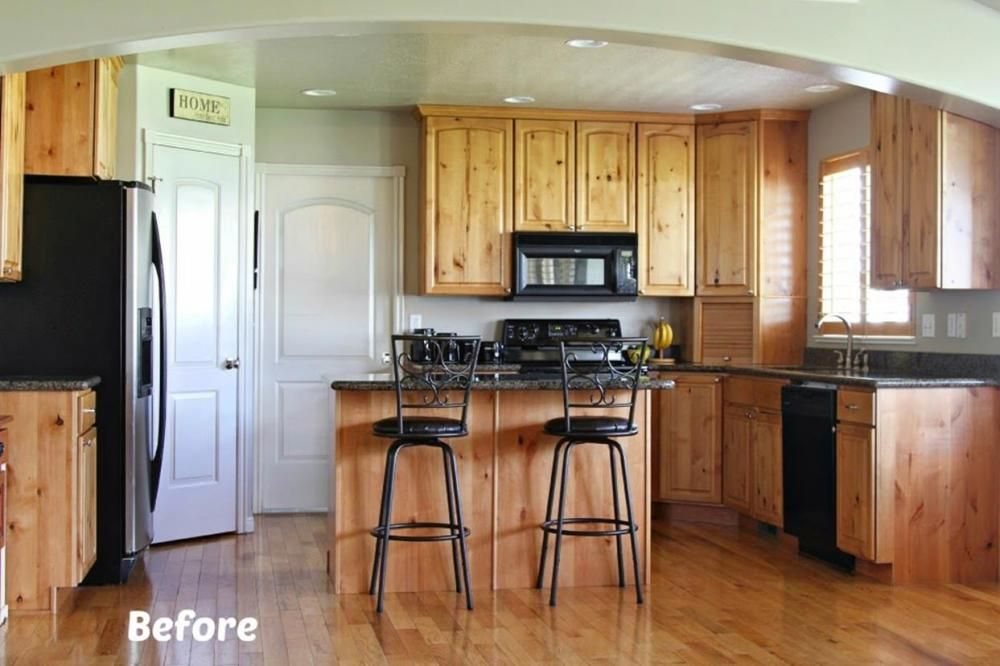 39 Perfect Painted Kitchen Cabinets Before And After ...
