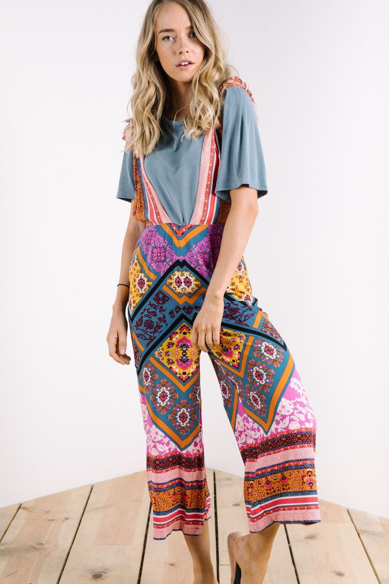 e5fdbaeb0eb FREE PEOPLE Anthropologie patchwork boho overall paisley jumper jumpsuit  12. Free People  Maritzah One Piece Jumpsuit in Multi