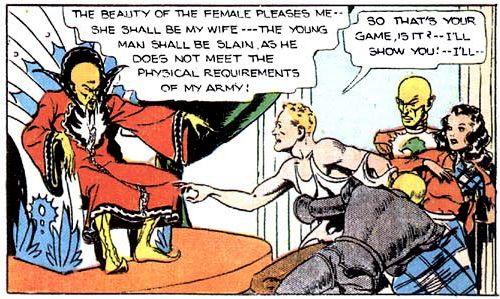 Comic flash gordon strip join. happens