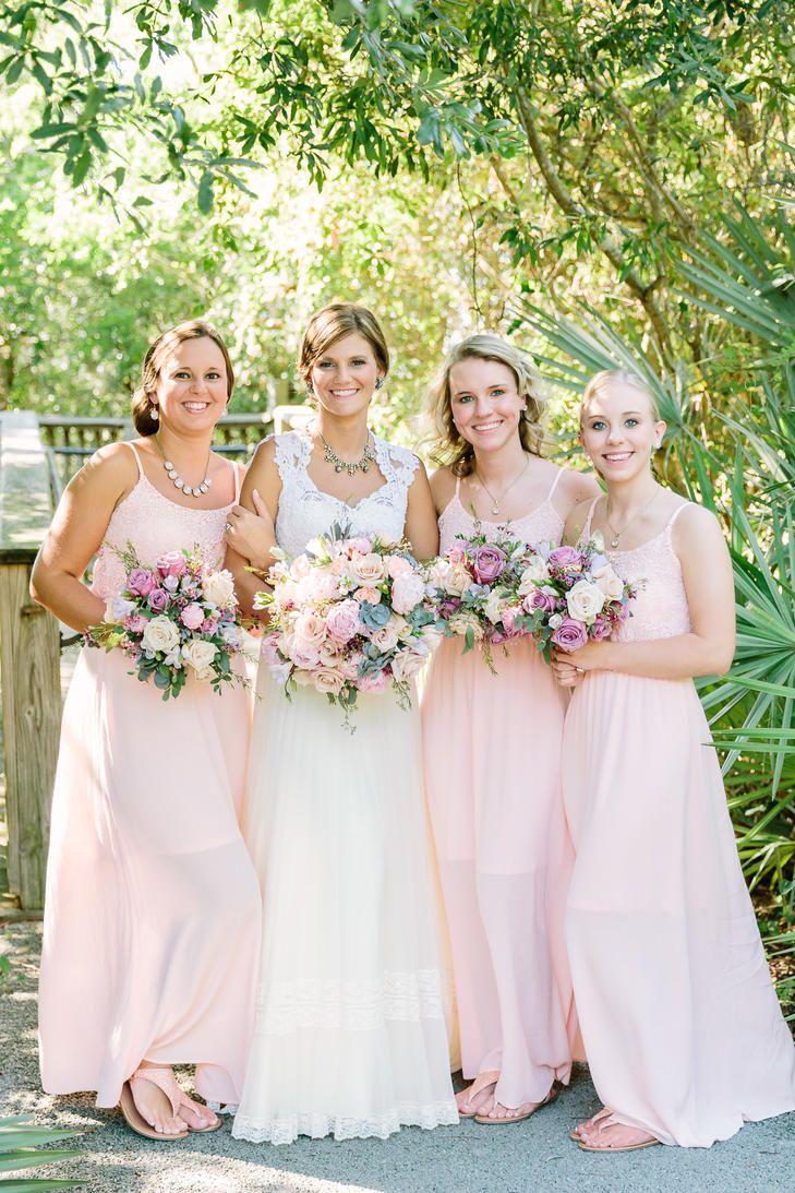 Soft peach bridesmaid dresses bridesmaid dresses pinterest soft peach bridesmaid dresses ombrellifo Images