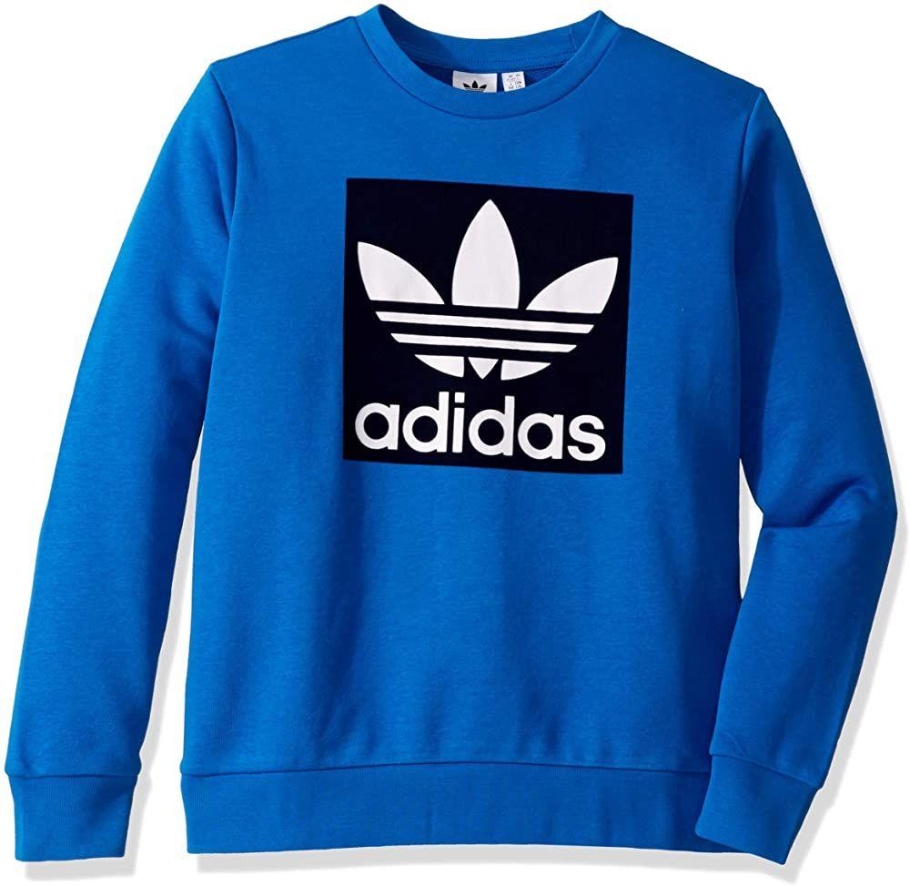Beautiful Adidas Originals Kids Big Juniors Outline Crewneck Sweatshirt Adidas Sweater From Top St Sweatshirts Adidas Sweater Crew Neck Sweatshirt [ 973 x 1000 Pixel ]
