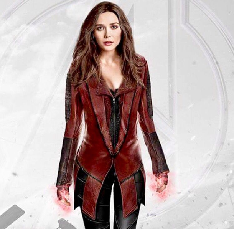 Fan Art Of Elizabeth Olsen As Scarlet Witch In Her Final Outfit In Avengers Age Of Ultron
