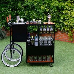 Barra m vil para tus gin tonic bot nicos y decorar tu casa gin tonic mobile bar with space - Carrito bebidas ...
