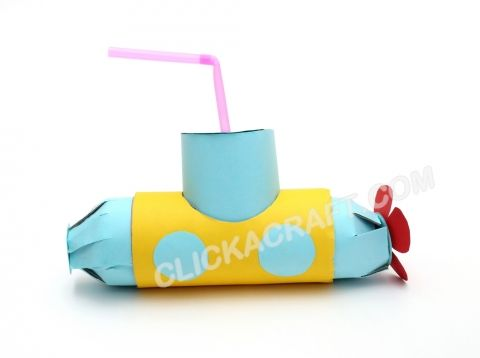 cardboard toilet paper roll submarine craft activities of making