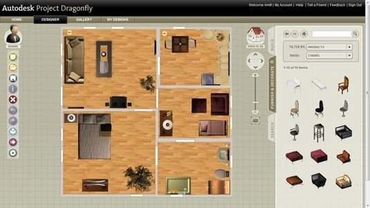 2d home design. 2d home plan AutoDesk DragonFly  Online 3D Home Design Software 3d software
