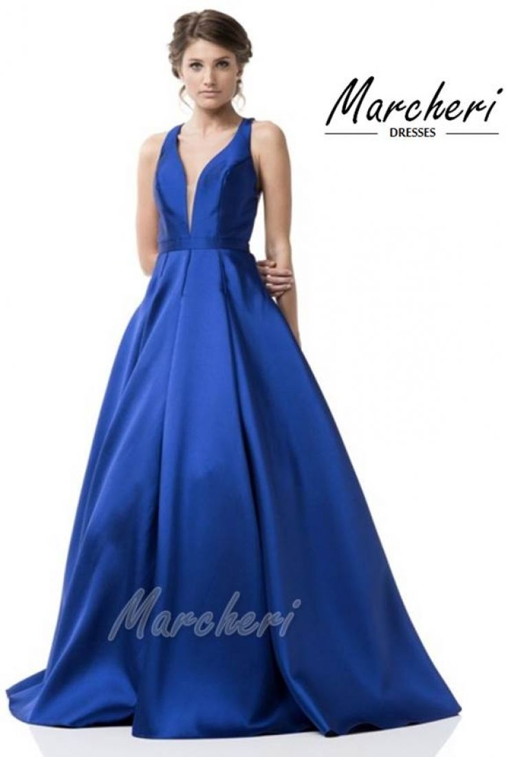 Vestido largo azulon