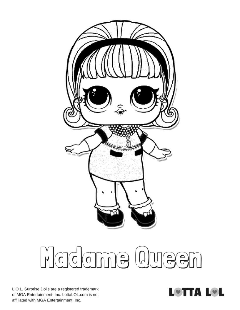 Madame Queen Coloring Page Lotta Lol Love Coloring Pages