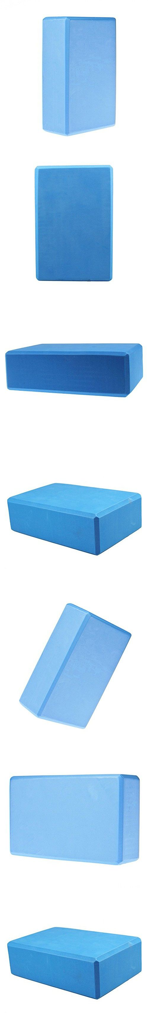 Blue Women 1pc Foaming Foam Yoga Block Brick Home Exercise Practice Fitness  Gym Sport Fitness Stretching a48ed3fc37