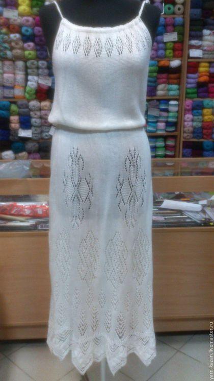 4186e422d8a Платья ручной работы. Ярмарка Мастеров - ручная работа. Купить Ажурное  вязаное платье спицами.