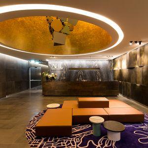 Ahl Reception Counter Brass Florentine Sheet Metal Copper Roof Axolotl Sheet Metal Roofing