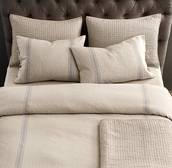 belgian linen provence stripe bedding collection--- so excited to