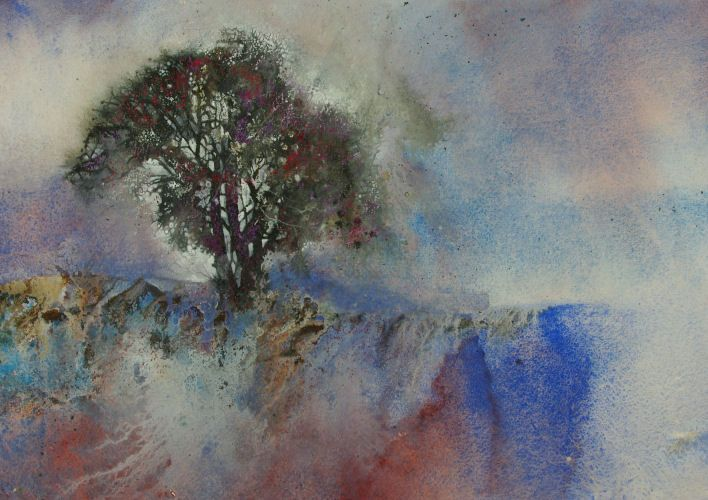 """Ann Blockley, """"Misty Hawthorn"""" superb! I love her watercolours (and her fathers) S"""