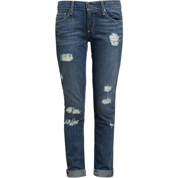 PAIGE DENIM Jimmy Jimmy Skinny Distressed Jeans (5.155 ARS) ❤ liked on Polyvore featuring jeans, pants, bottoms, calças, denim skinny jeans, denim jeans, skinny fit jeans, ripped skinny jeans and distressed skinny jeans