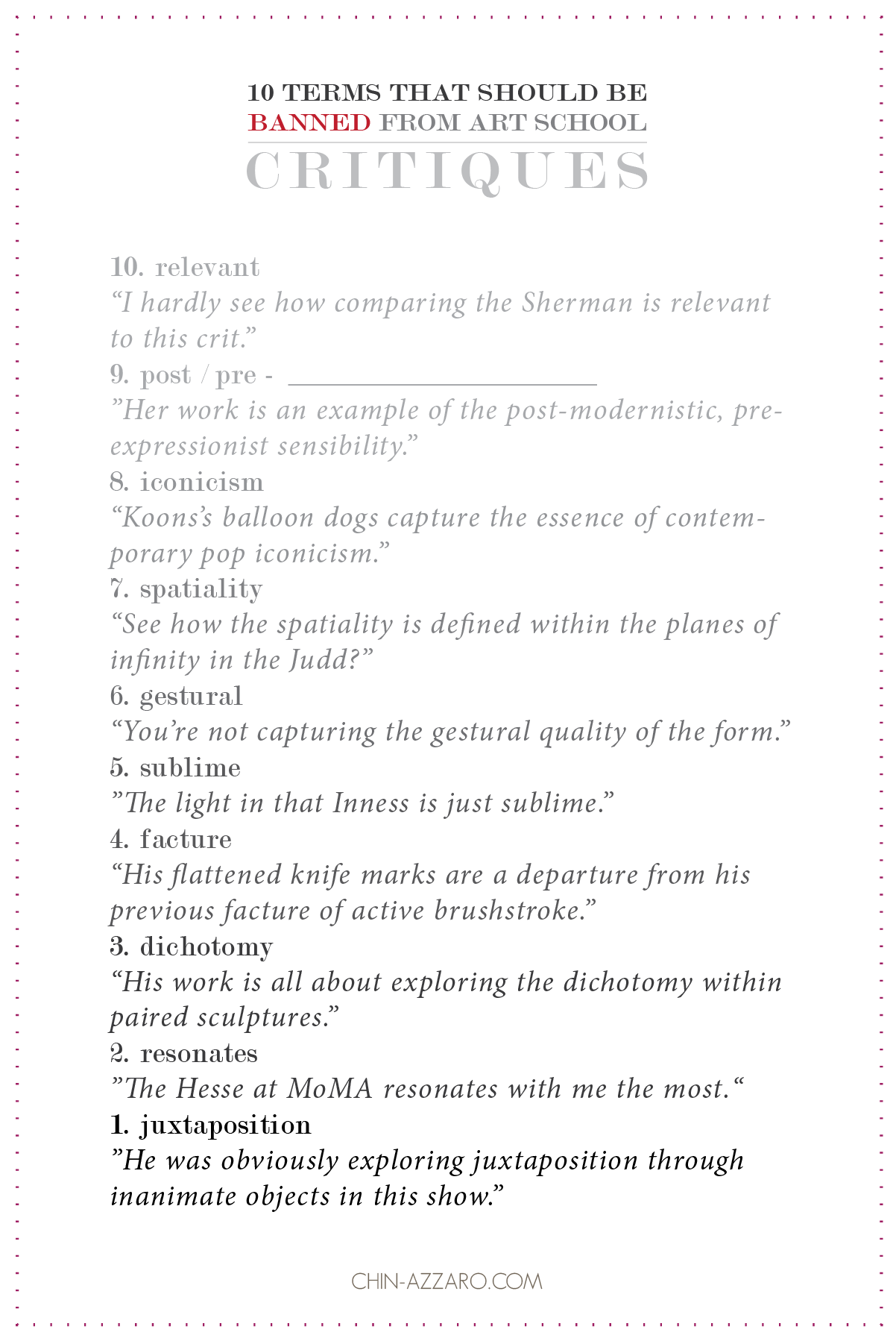 10 Terms That Should Be Banned From Art School Critiques