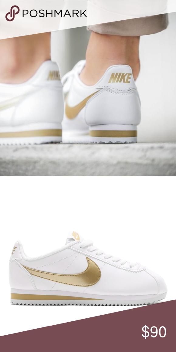 Gold Nike Cortez Sneaker