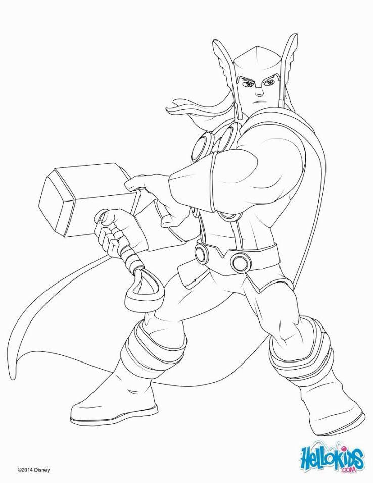 Único Thor Para Colorear Imprimible Foto - Dibujos Para Colorear En ...