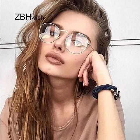 Fashion Retro Women Glasses Frame Men Eyeglasses Frame Vintage Round Clear  Lens Transparent Sun Glasses Frame Women 7fd5c12b4d