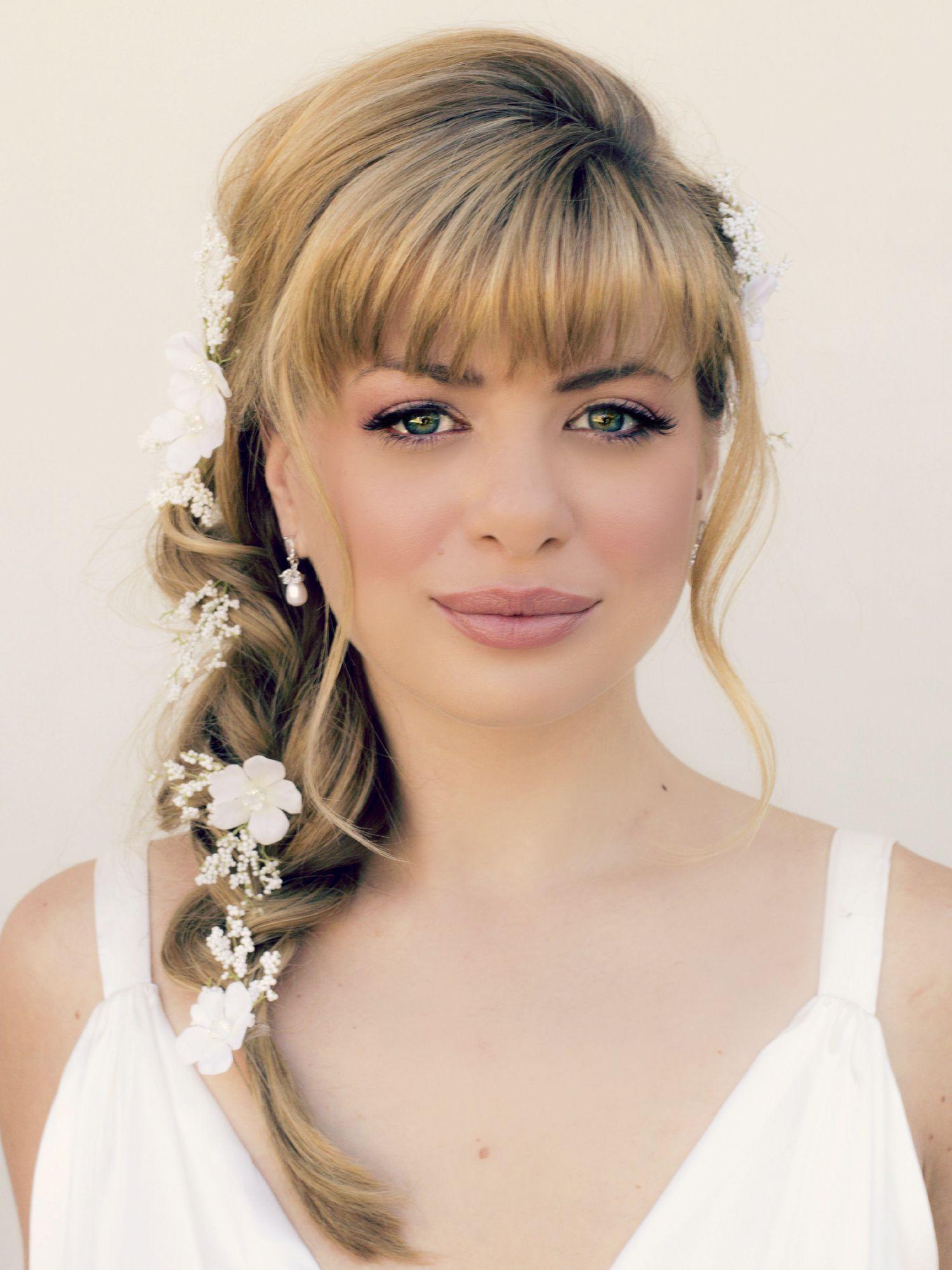 Wedding Hairstyles Bangs Older Bride Google Search