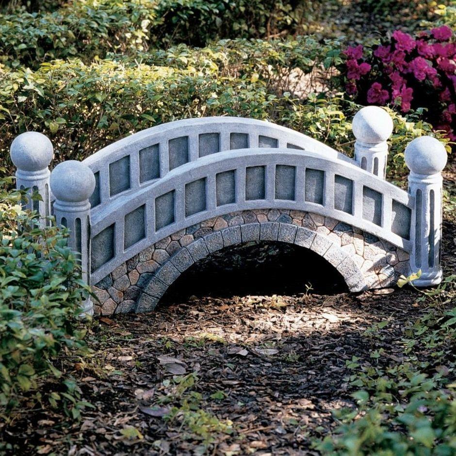 This Decorative Outdoor 3 Ft Garden Bridge With Resin Stone