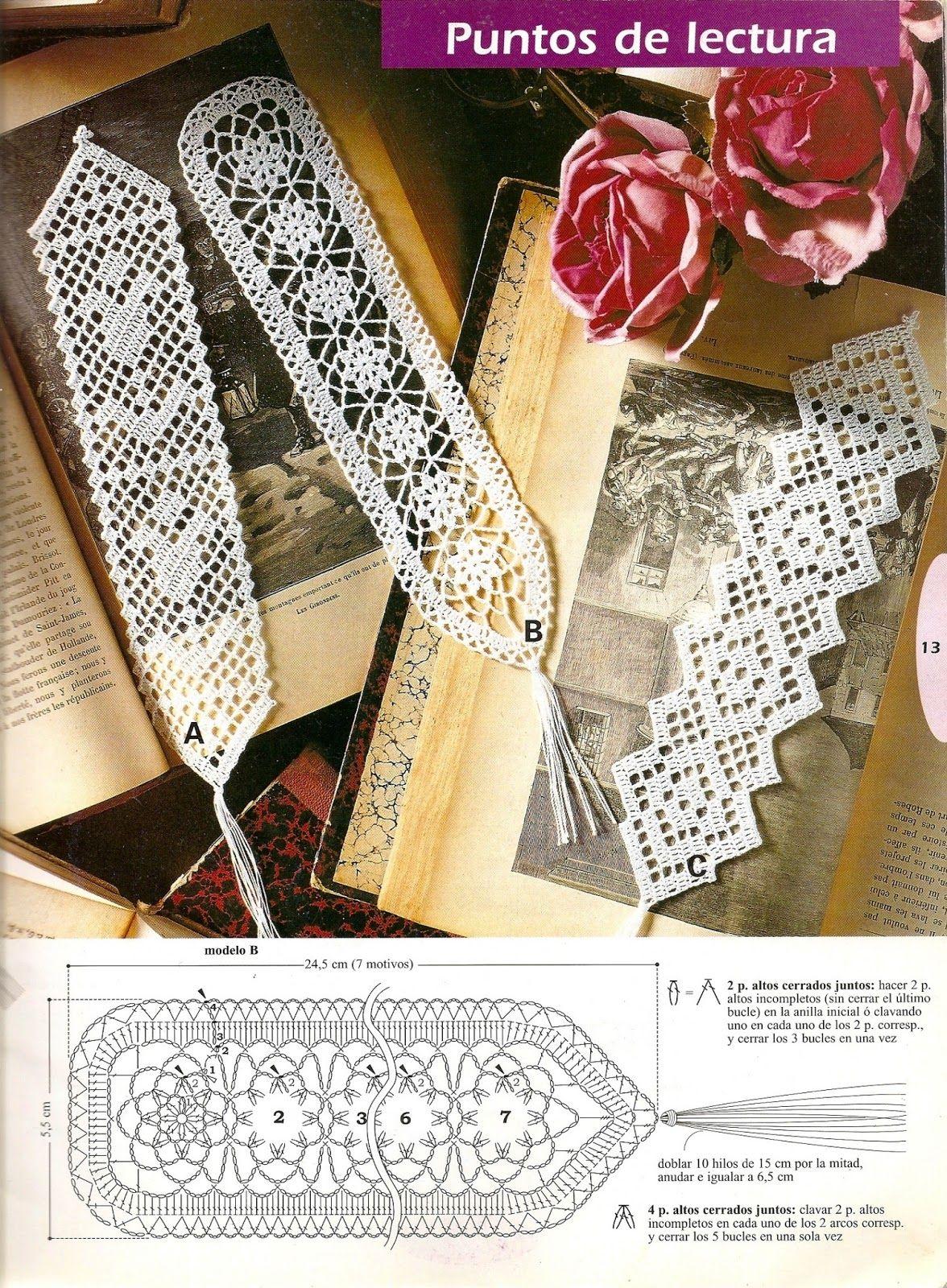 Solo esquemas y diseños de crochet: MARCA LIBROS!!