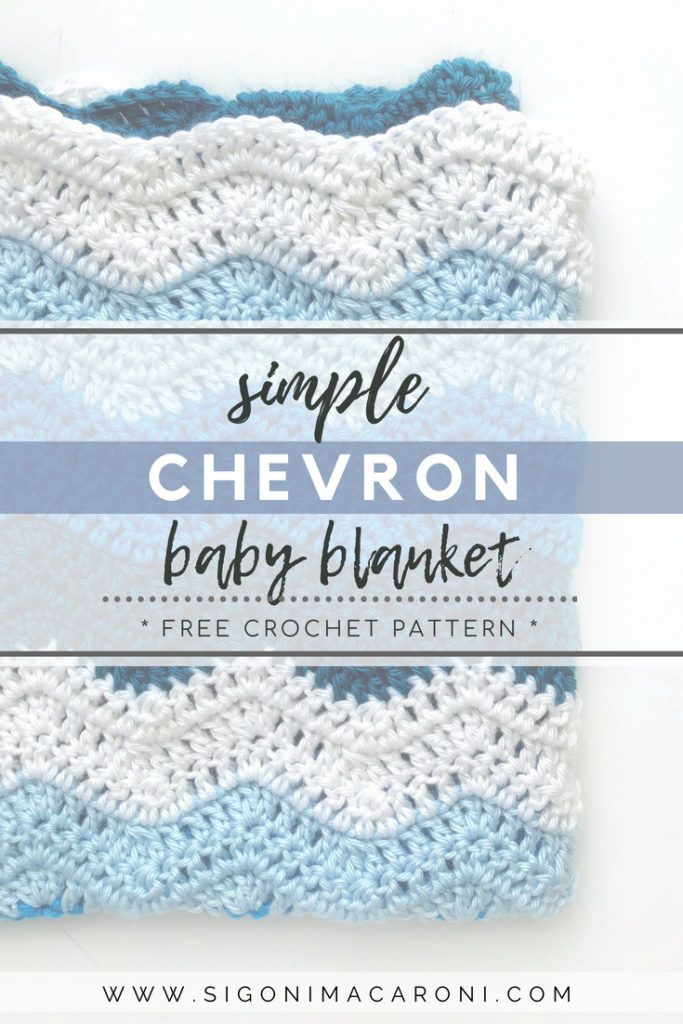 The Simple Chevron Baby Blanket crochet pattern is quick, super ...