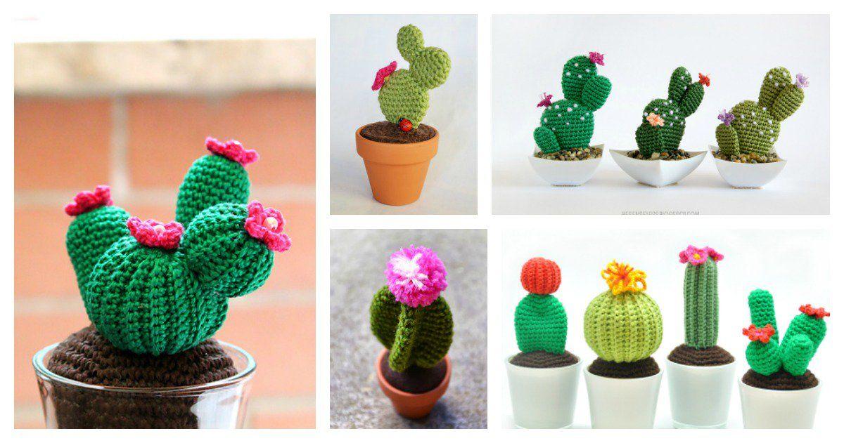 Patrón para tejer un cactus de ganchillo tipo amigurumi | Cactus ... | 631x1200
