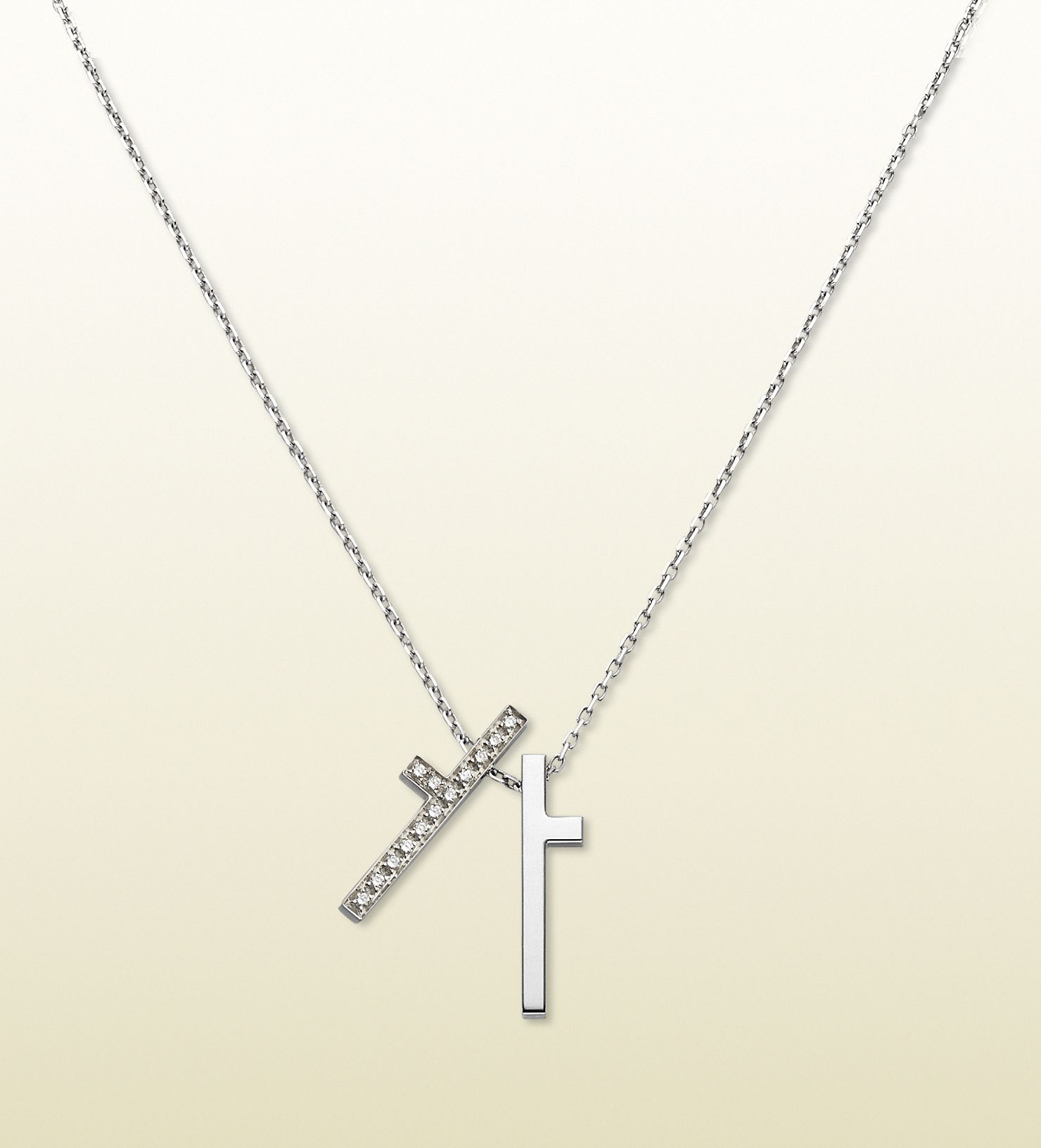 98cce1cdc gucci necklace with split cross pendant Gucci Jewelry, Cool Necklaces,  Modern Luxury, Belt