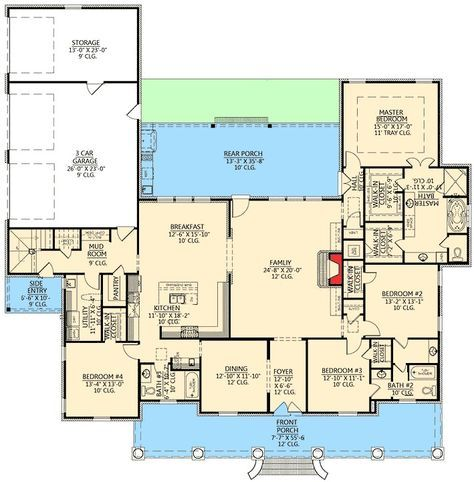 Plan 56337sm Graceful 4 Bedroom Acadian Home Plan