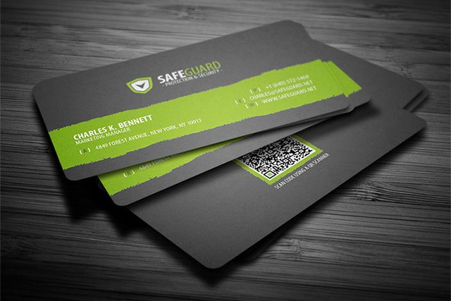 Simple rounded business card template with qr code available for simple rounded business card template with qr code available for free download in psd format with following features dimensions 35 x 2 inches wajeb Image collections