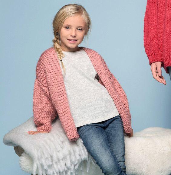 b34f506c380b1a Eenvoudig breipatroon meisjes vest in tricotsteek
