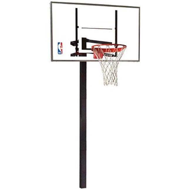 Spalding 88454g Inground 54 Glass Basketball Hoop On Sale Today Basketball Systems Adjustable Basketball Hoop Basketball Hoop