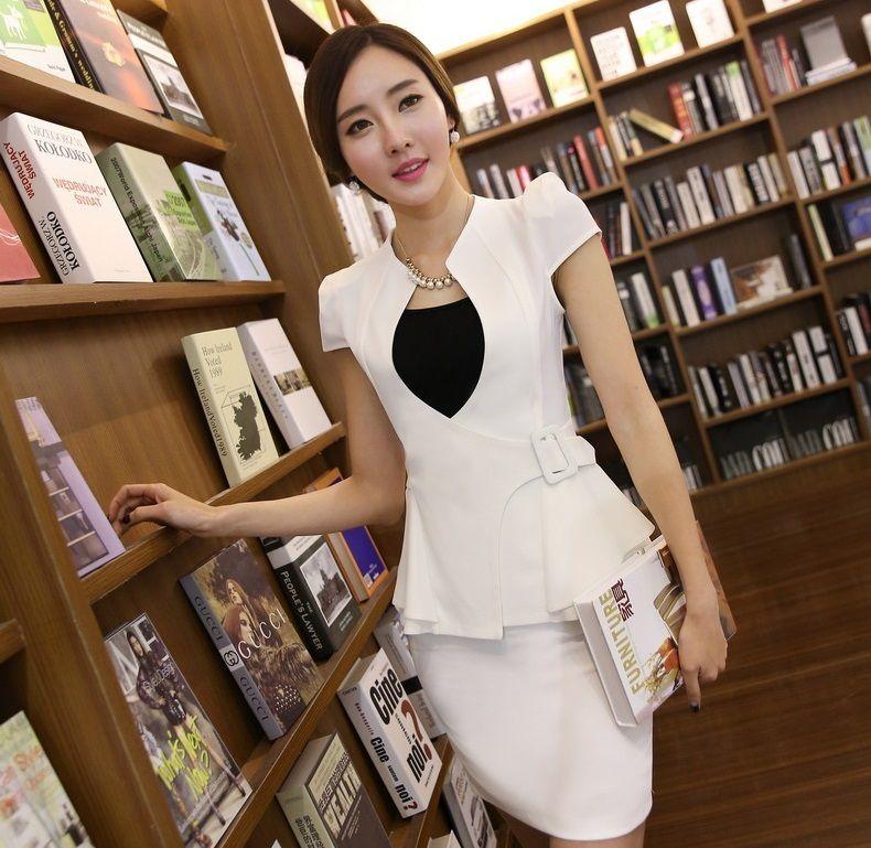 Encontrar Más Blazers Información acerca de Nueva moda de verano 2015 mujer  Blazers y chaquetas cortas blanca delgada Formal para mujer de la oficina  ... ba6a1740b16b