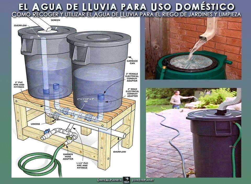 Maneiras simples e prática para armazenar água, para regar plantas, lavar quintal...