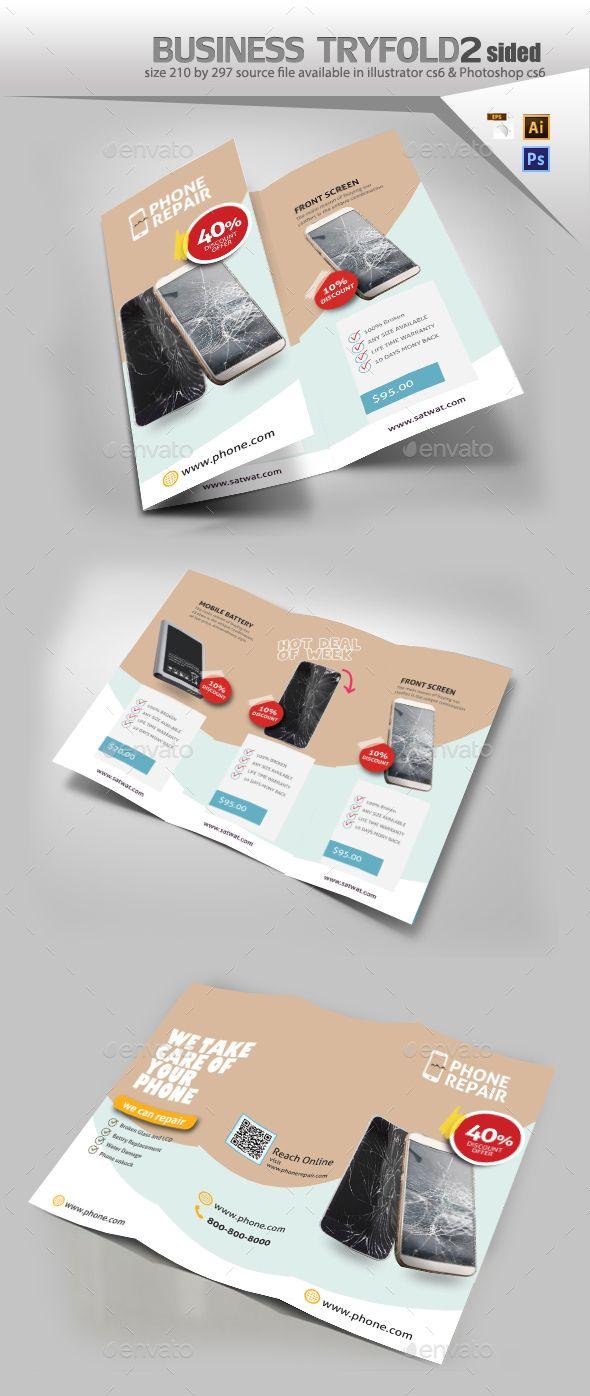 Smartphone Repair Brochure  Brochures Brochure Template And
