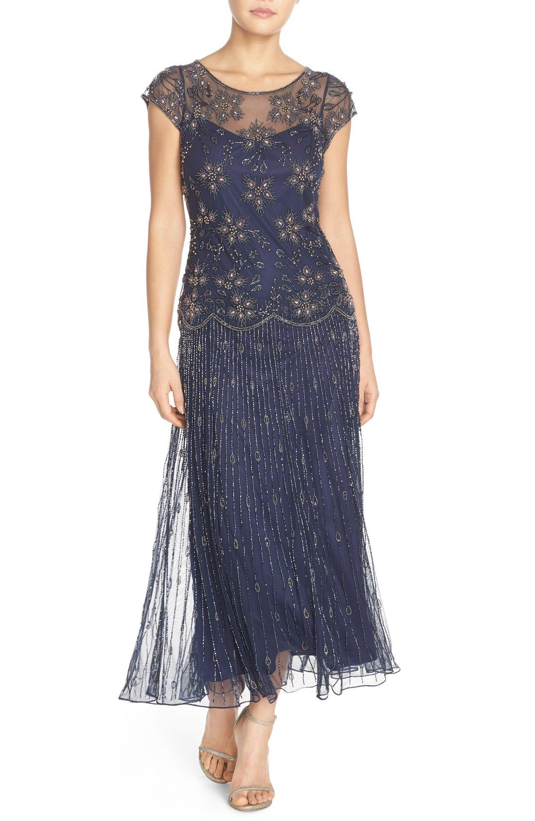 Pisarro Nights Embellished Mesh Gown (Regular & Petite) | Nordstrom ...