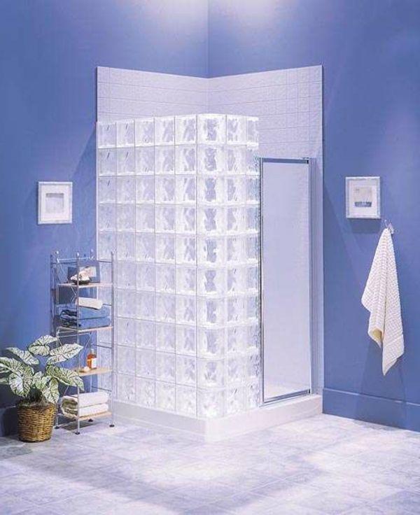 Glasbausteine badgestaltung  glasbausteine-für-dusche-elegantes-aussehen | Badinspirationen ...