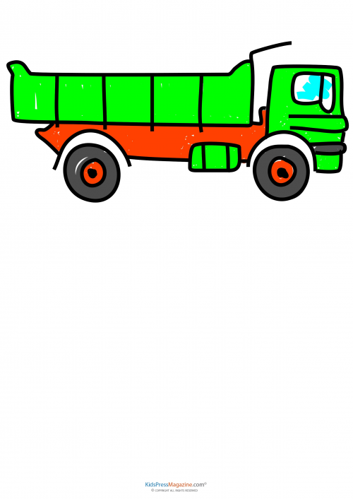Learning How To Draw These Pieces Of Heavy Machinery Can Often Keep A Younger Childs Interest This Activity Features Dump Truck