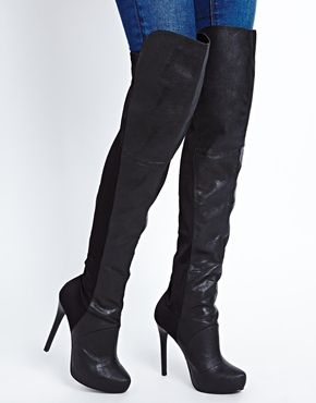 88604187a686 New Look Air Elastic Over the Knee Boots... these may work for plus sizes  with larger calves
