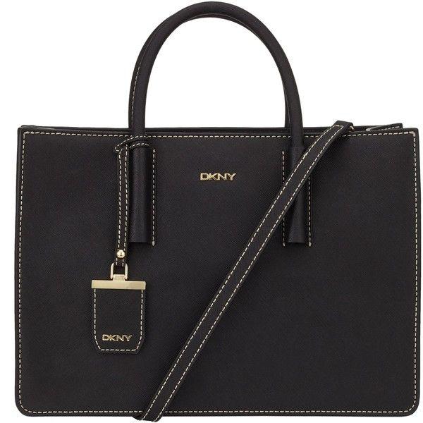 67205134872 DKNY Bryant Park Woven Edge Saffiano Leather Shopper Bag , Black ...