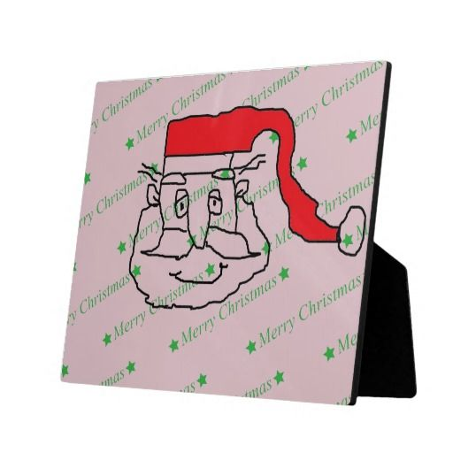Santa Claus Plaque #SantaClaus #Santa #Holiday #Christmas #MerryChristmas #Plaque #Photo